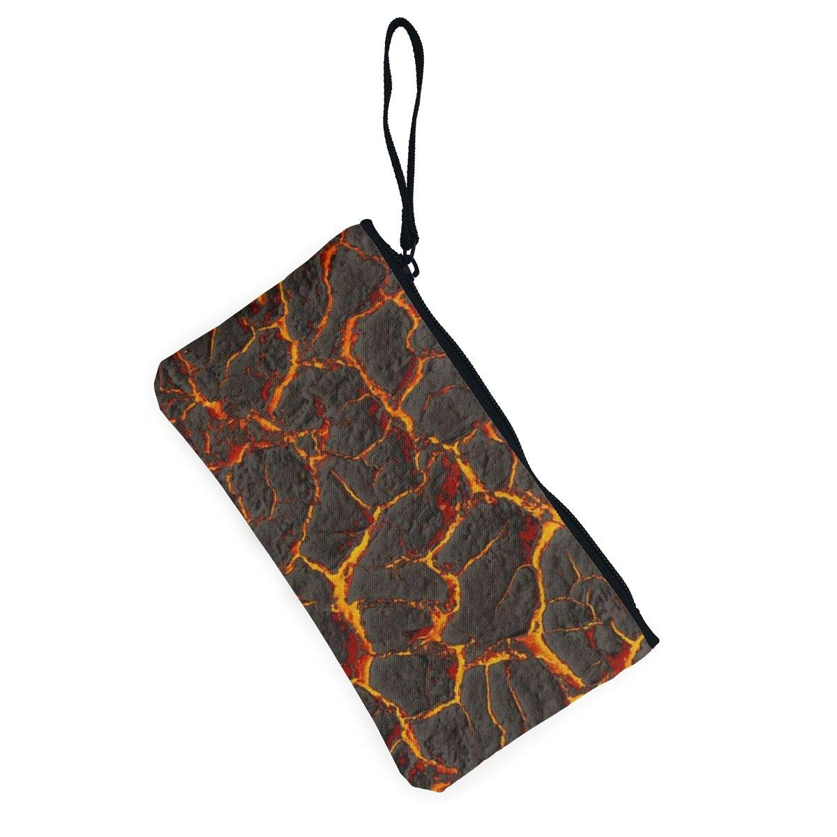 Make Up Bag,Cellphone Bag With Handle Volcano Fabric Zipper Canvas Coin Purse Wallet