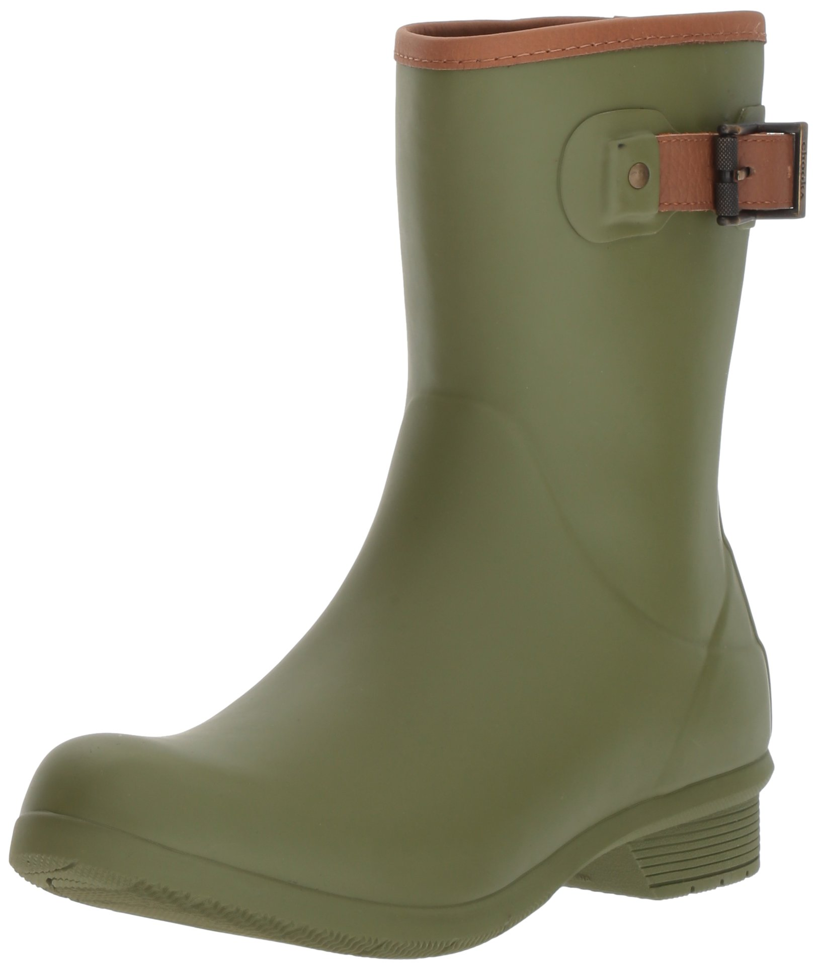 Chooka Women's Mid-Height Memory Foam Rain Boot, Olive, 9 M US by Chooka (Image #1)