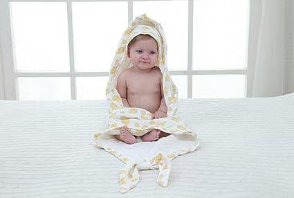 gogogofun toalla para bebé con capucha con manopla guante, 100% algodón orgánico – Blanco
