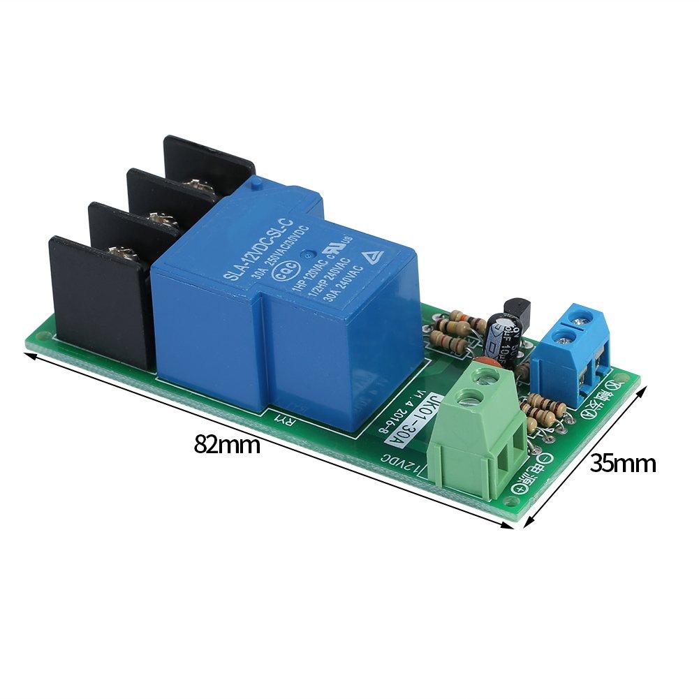 DC12V 30A 0~60minutes Automatizaci/ón digital Infinito Temporizador Ciclo Retardo Retransmisi/ón Control M/ódulo ON//OFF