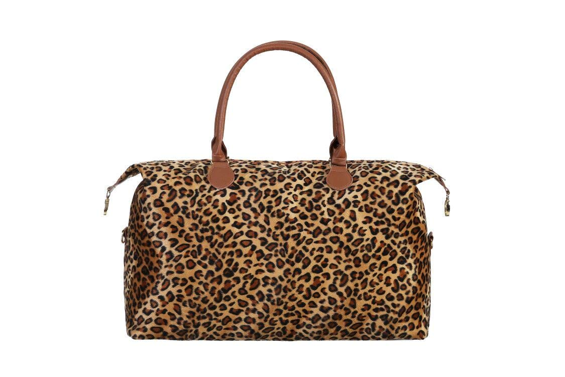 Duffel Leopard Weekender Bag For Women Travel Cheetah Weekend Bag Overnight Bag