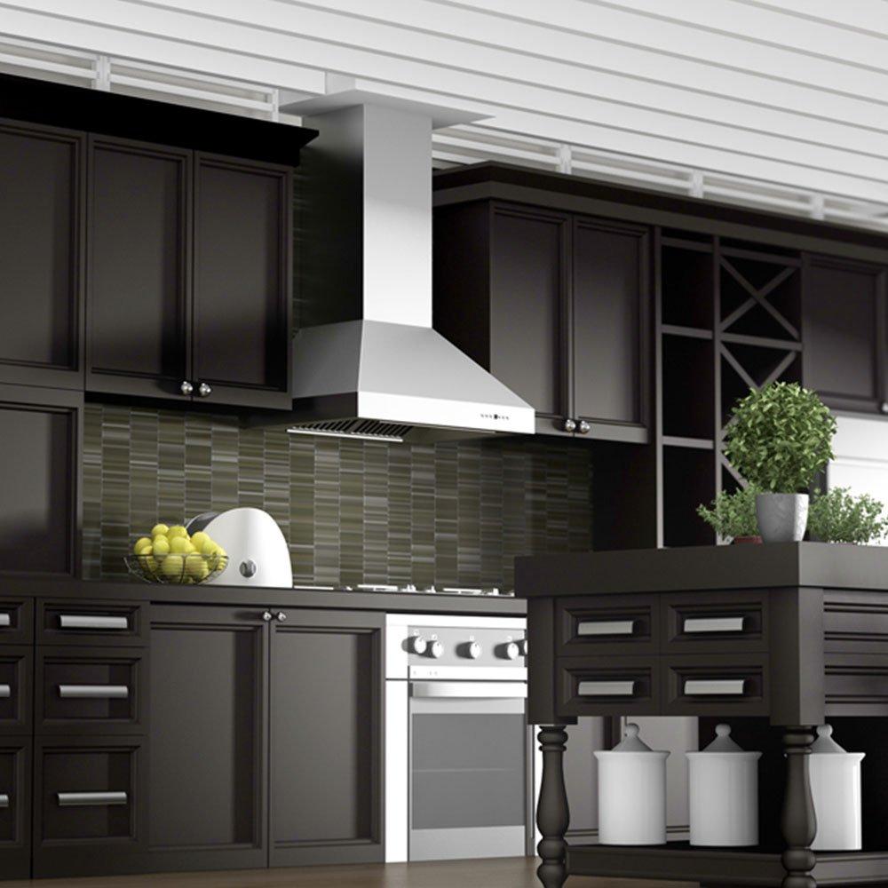 Amazon com z line kb 304 30 30 760 cfm outdoor wall mount range hood in stainless steel appliances