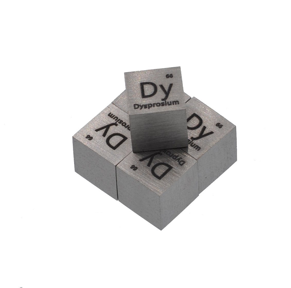 Dysprosium Metal 10mm Density Cube 99.5% Pure for Element Collection