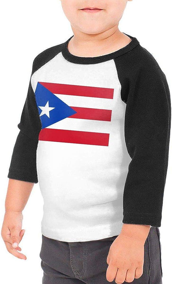 Boys Girls Kids /& Toddler Puerto Rico Flag Long Sleeve T-Shirt 100/% Cotton