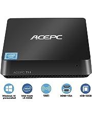 ACEPC T11 Mini PC / Windows 10 Home Intel Atom x5-Z8350 [4 GB / 32 GB] Intel Grafica HD WiFi 4K Bluetooth 4.2 HDMI + VGA Computer Desktop Intel Fanless