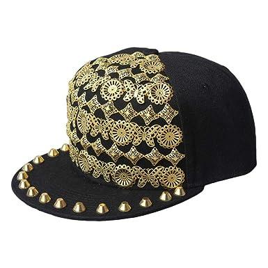 Europa y punk-estilo mariposa remache cosen gorras de hip-hop ...