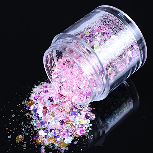 ecbasket-big-deal-newest-arrival-glitter-powder-nail-dust-diy-nail-glitter-slices-sunshine-pink