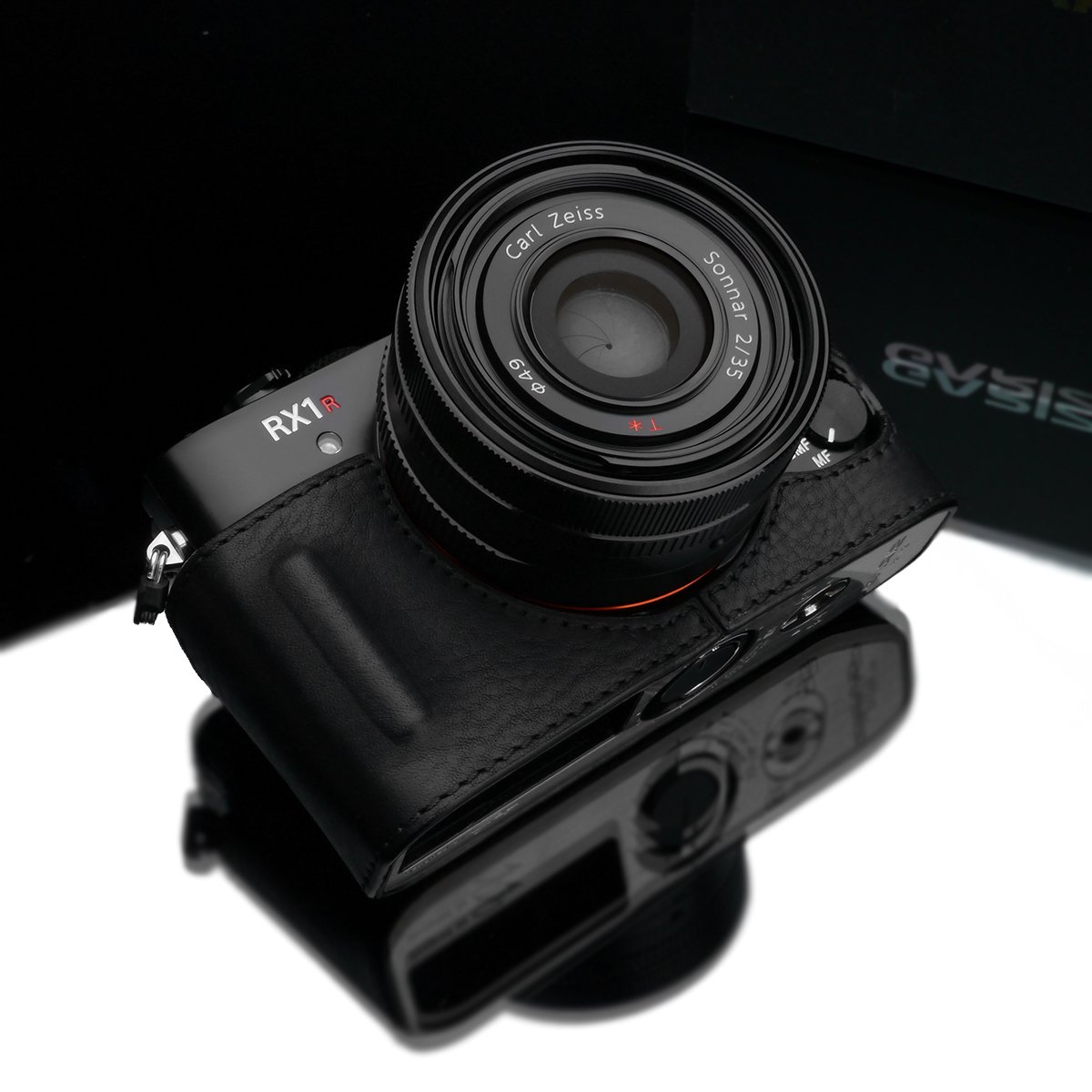 Gariz hg-rx1r2bkレザーメタルHalf Case for Sony rx1rii rx1r2 rx1r II、ブラック   B01A3W2YMG