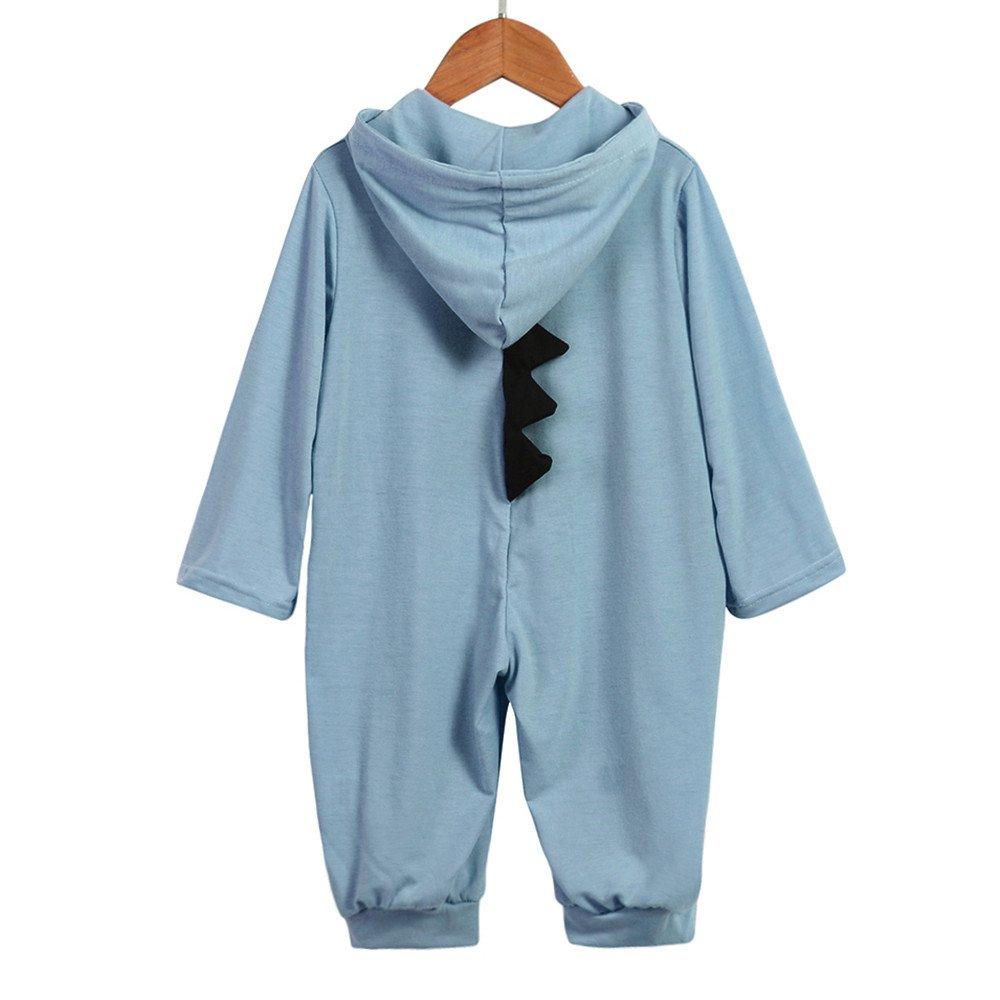 18 Months, Colorful -Blue Newborn Infant Baby Baby Boys Girls Dinosaur Sleepsuits Pyjamas Kids Toddlers Onesie Pjs Romper Jumpsuit One