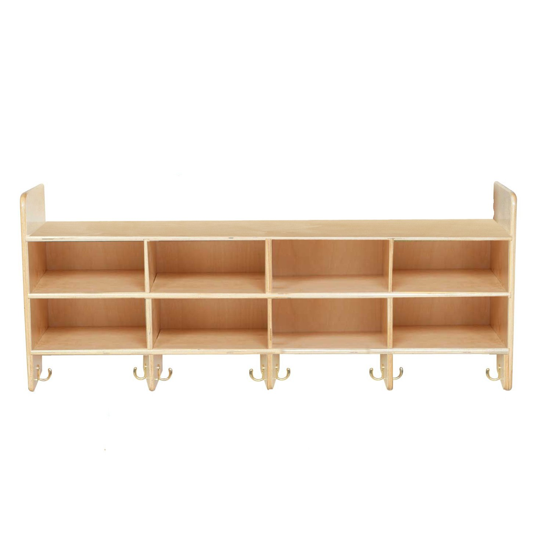 Wood Designs WD51708 Eight-Section Wall Locker, 19 x 48 x 12'' (H x W x D)