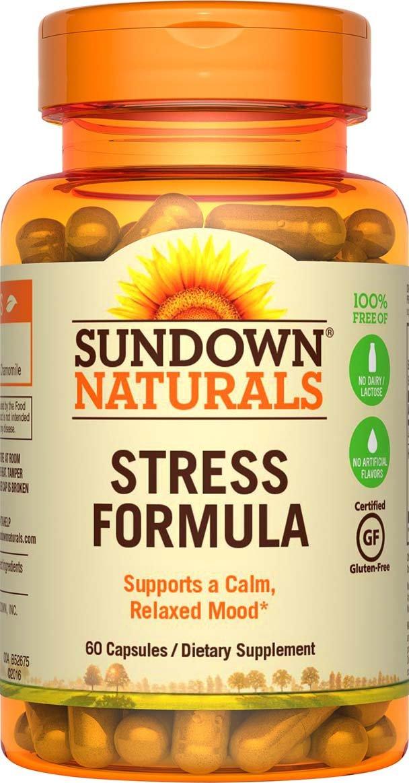 Sundown Naturals L-Theanine Stress Formula, 60 Capsules