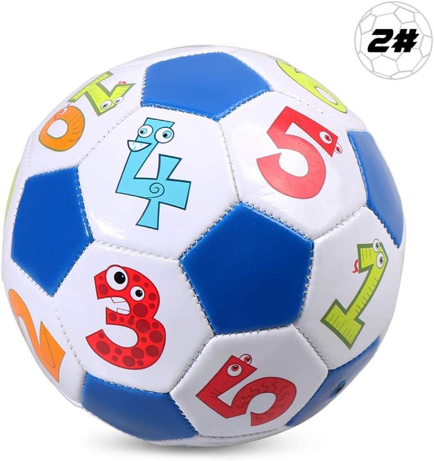 Explopur Balón de fútbol para niños - Regalo de balón de Entrenamiento de fútbol Inflable de tamaño 2 para niños Estudiantes