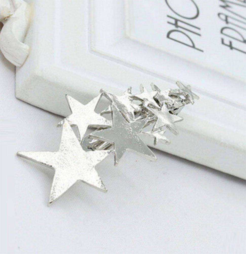BIGBOBA Moda stella argento fermaglio per capelli ragazza maglieria mollette per Capelli accessori per capelli donna