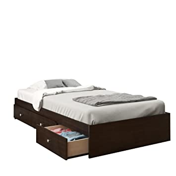 nexera 4600 pocono 39 inch storage bed frame twin espresso - Twin Bed Frames With Storage
