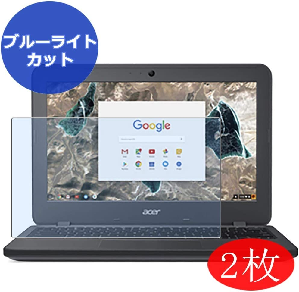 "【2 Pack】 Synvy Anti Blue Light Screen Protector for Acer chromebook 11 C731-N14N 11.6"" Screen Film Protective Protectors [Not Tempered Glass]"