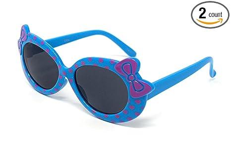 Amazon.com: 2 gafas de sol de color azul para niños y niñas ...