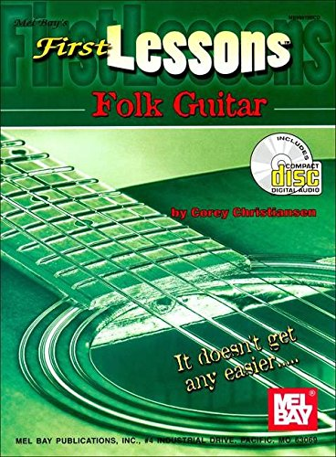 Mel Bay First Lessons Folk Guitar Book/CD Set - First Lessons Folk Guitar