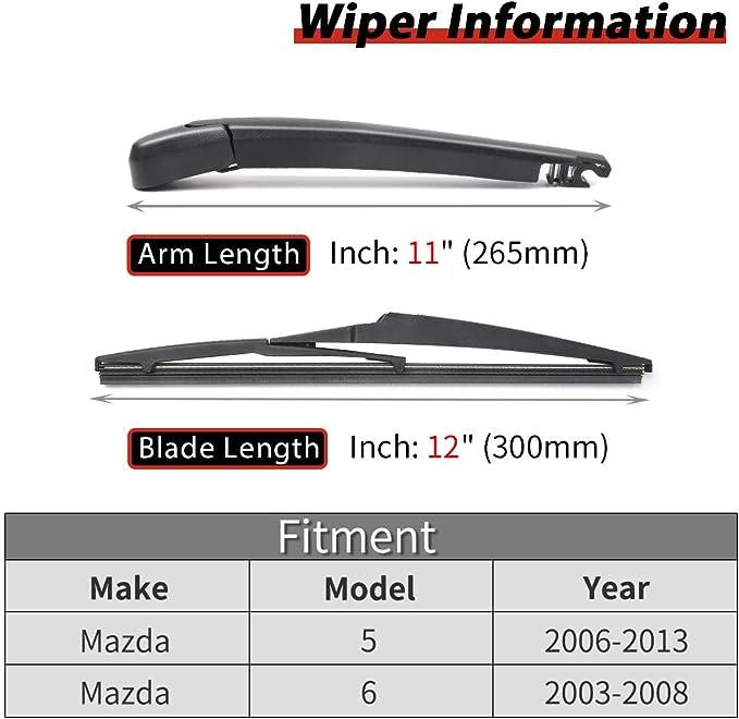 NEW Rear Wiper Blade Mazda 5 2005 2006 2007 2008 2009 2010 2011 2012 2013 2014