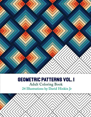 Geometric Patterns - Adult Coloring Book Vol. 1 - Inkcartel (Volume -