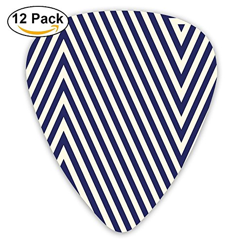 Newfood Ss Pattern With Geometric Triangle Like Striped Designed Guitar Picks 12/Pack Set
