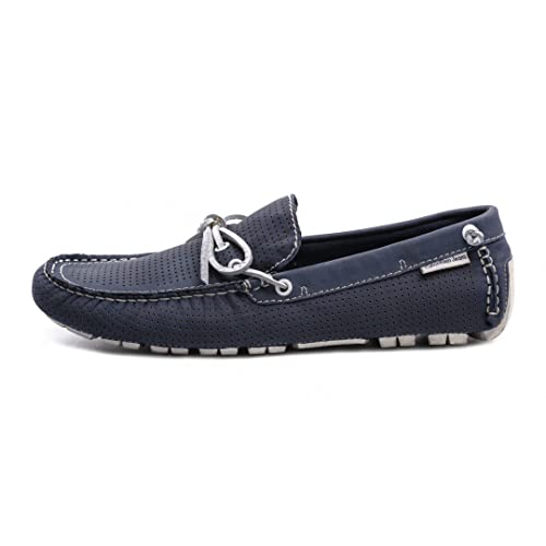 Calvin Klein Jeans mocasines Gus Perforated Washed Nubuk Azul Size: 43: Amazon.es: Zapatos y complementos