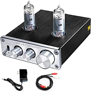 FX AUDIO Vacuum Tube Preamp—Mini Electronic Hi-Fi Stereo 6K4 Tube Preamplifier with Bass & Treble Control DC12V Power Supply for Home Audio Player(Silvery)