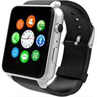 Smart Watch With Heart Rate Monitor,Bluetooth Smart Watches Supports SIM Card Works With Samsung, Apple iPhone etc Android and iOS System Smartphones (Black-Silver)