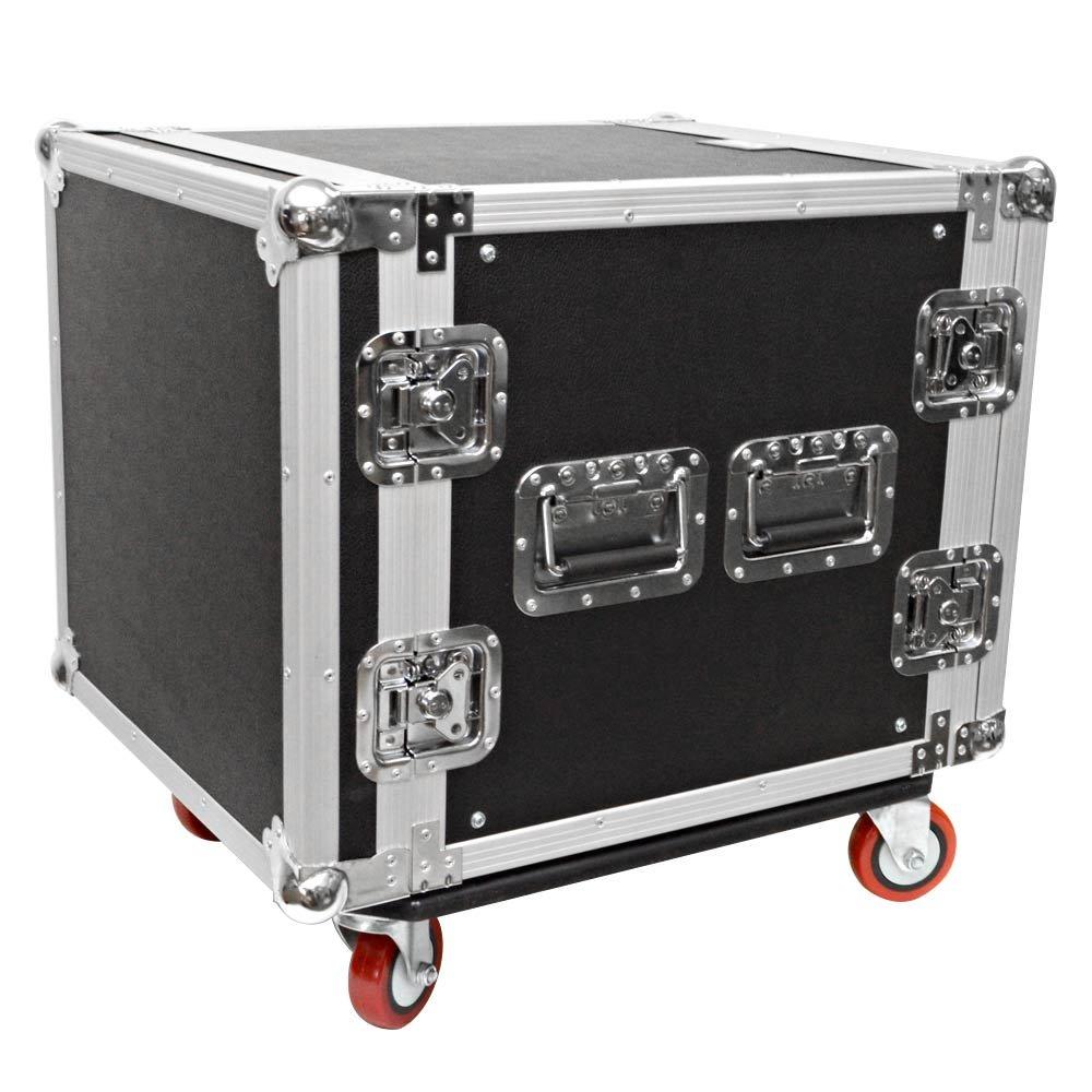10 SPACE RACK CASE Amp Effect Mixer PA//DJ Wheel//Casters Seismic Audio