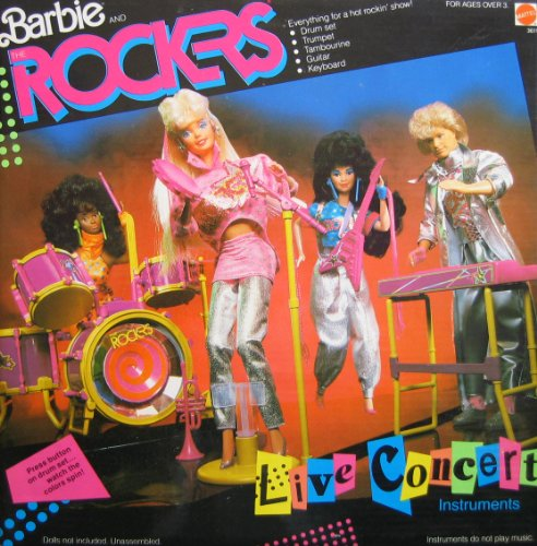 Barbie and The ROCKERS LIVE CONCERT INSTRUMENTS Play Set ...
