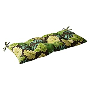 Pillow Perfect Indoor/Outdoor Tropique Green Swing/Bench Cushion