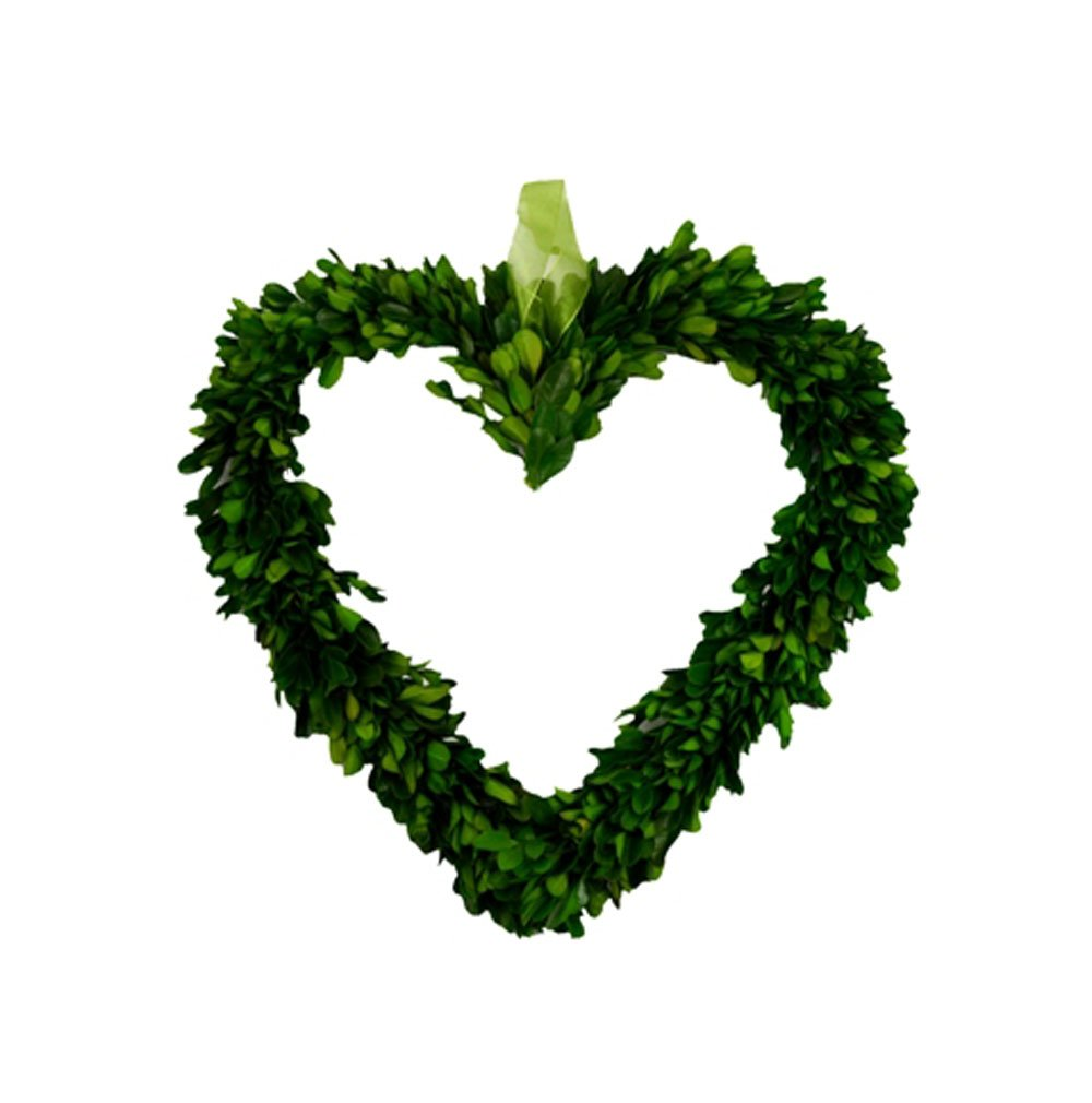 Galt International Heart-Shaped Wreath, 8.5-Inch Naturally Preserved Real Boxwood