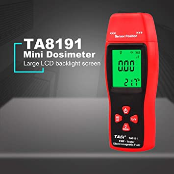 Detector de radiación electromagnética digital Medidor de EMF de mano Dosímetro Tester (Color: rojo y gris): Amazon.es: Bricolaje y herramientas