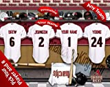 Arizona Diamondbacks Team Locker Room Clubhouse Personlized Officially Licensed MLB Photo Print