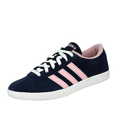 adidas Neo Vlcourt Chaussures Mode Tennis Femme Bleu Rose
