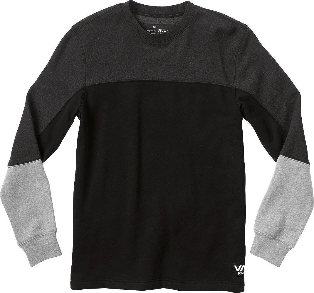 RVCA Mens Stats Crew Fleece Sweatshirt