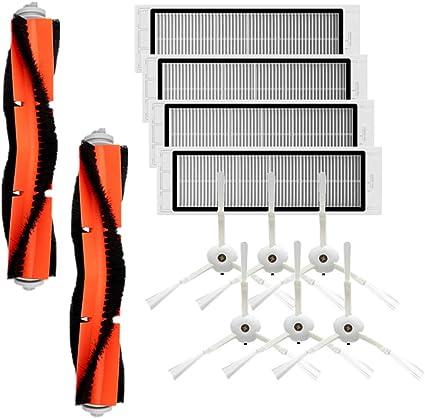 KKmoon Kit di Accessori compatibile con XIAOMI MI Parti di Ricambio per Aspirapolvere Robot, 6 Spazzola Laterale + 4 Filtri HEPA + 2 Spazzola