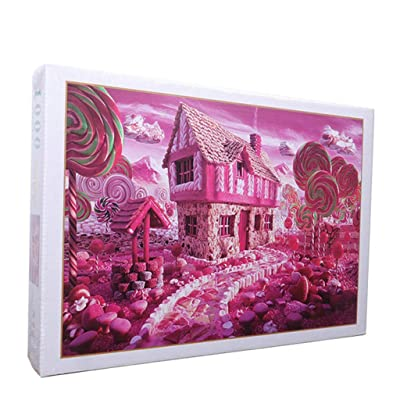 Highpot Puzzles for Adults 1000 Piece Large Puzzle, Starry Sky and Candy House Jigsaw Puzzle (B): Toys & Games [5Bkhe0403664]