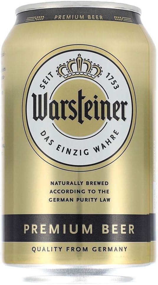 24 x latas de Warsteiner Pilsener 0.33L latas 4.8% Vol. Desechables