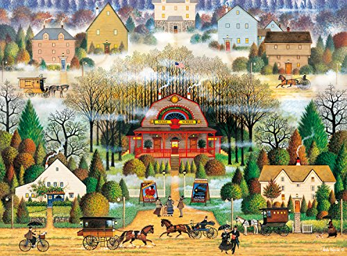 Buffalo Games - Charles Wysocki - Melodrama in the Mist - 1000 Piece Jigsaw Puzzle (Puzzle Pieces Games)