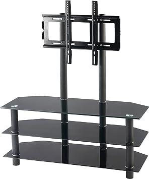 Carlo Milano – Soporte Rack Hi-Fi con TV: TV de Rack para Pantallas Planas con 32