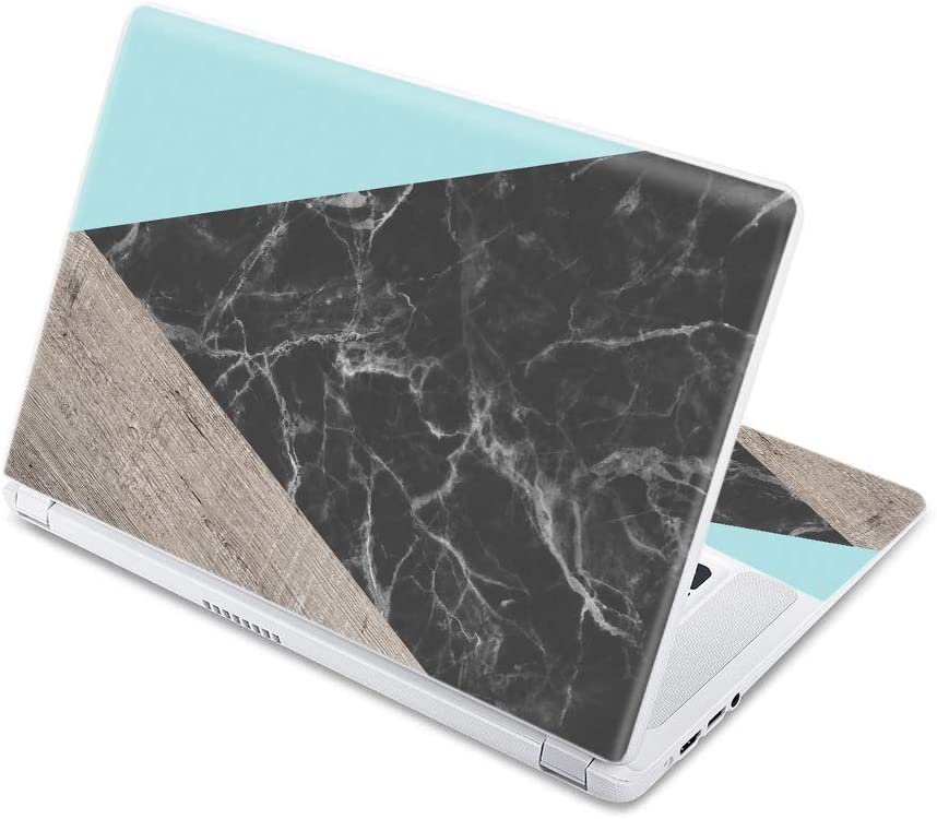 """MightySkins Skin Compatible With Acer Chromebook 15 15.6"""" (2017) - Wood And Marble 