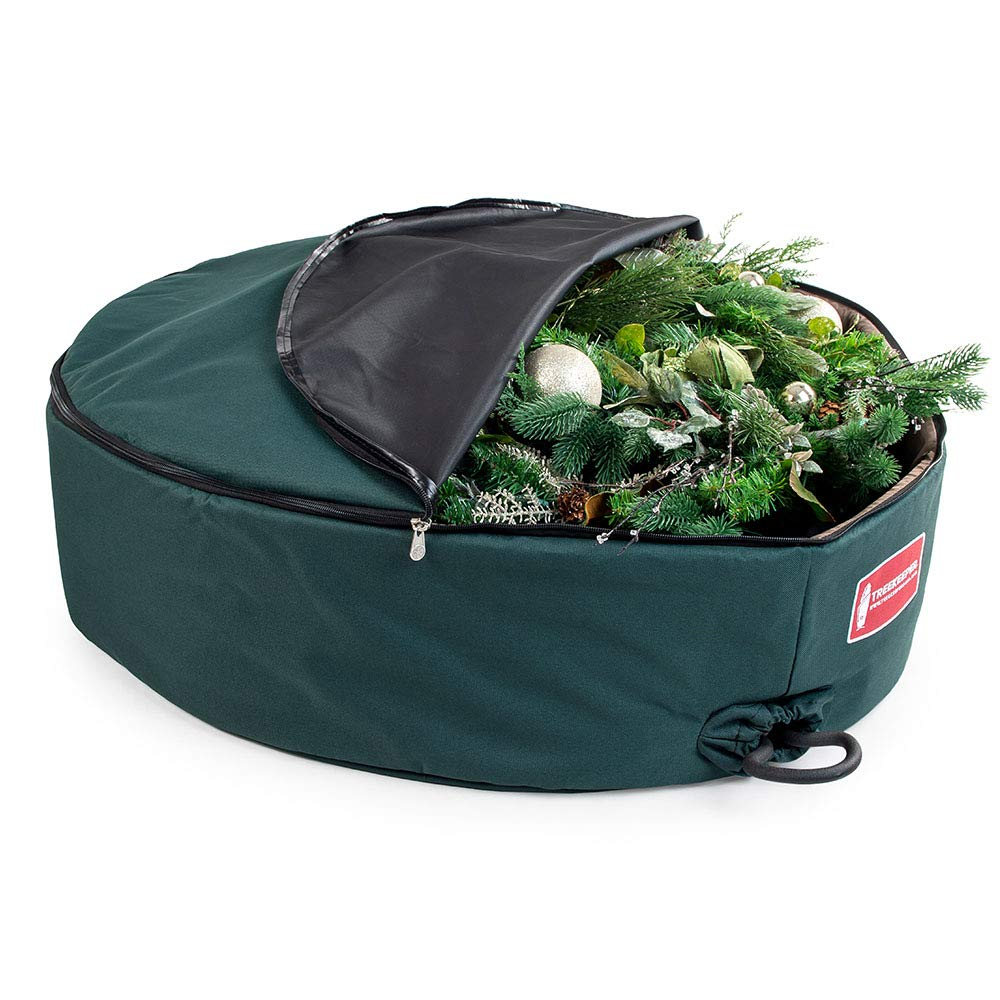 [36 Inch Wreath Storage Container] - for Christmas Wreath up to 36 Inches in Diameter   Bag Hooks Directly to Your Wire Wreath Frames to Prevent Sagging and Deformed Wreaths   Tree Keeper (36-Inch) by TreeKeeper