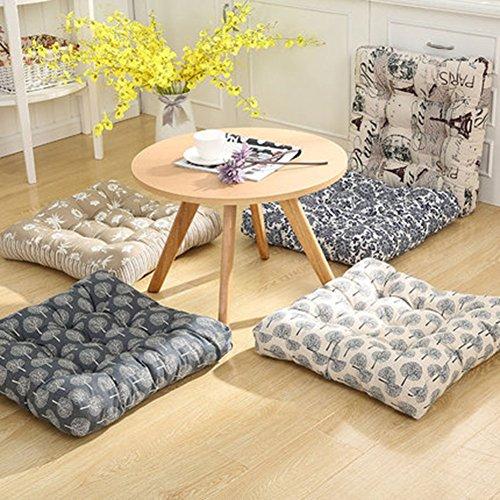 Amazon.com: TMJJ Square Cotton Linen Floor Pillow Japanese Futon ...