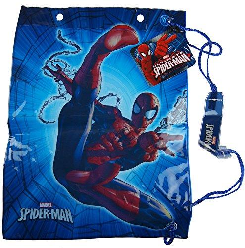 Spiderman blau Schule Kunststoff Schwimmen Kit Bag–PE Kit/Fußball Stiefel Tasche