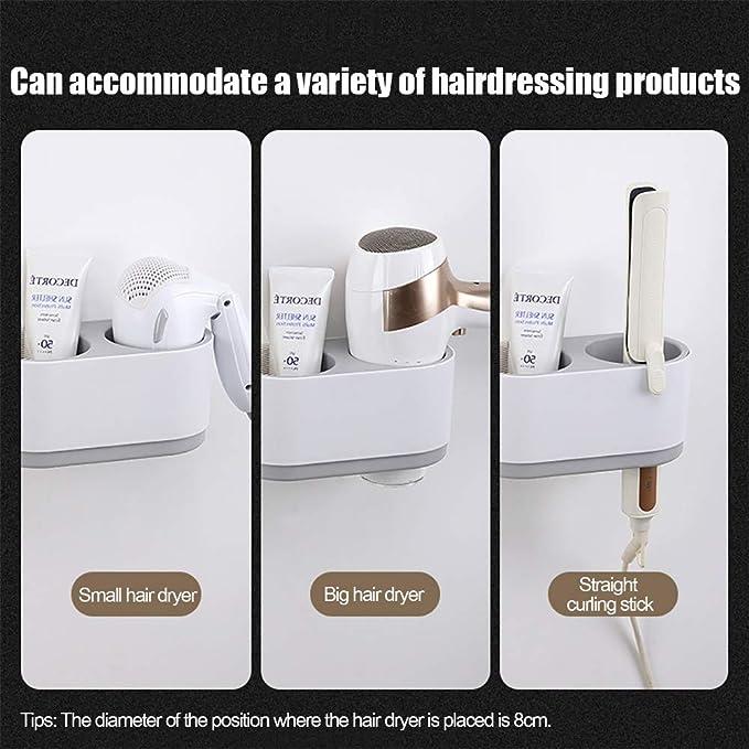 Secador de pelo Rack, multifunción de pared, secador de pelo recto Curling de Rod Máquina de almacenamiento de almacenamiento de gran capacidad, ...