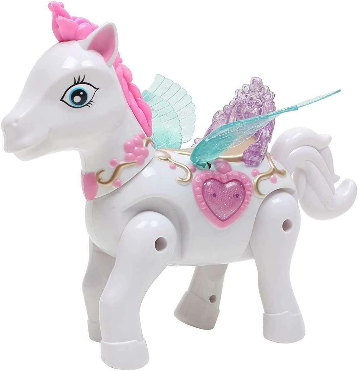CHILDREN Kids Princess toys ELVES Horse Light Music Walk Around fairy TOY uk
