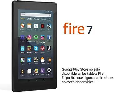 Tablet Fire 7, pantalla de 7'', 32 GB (Negro) - Con publicidad