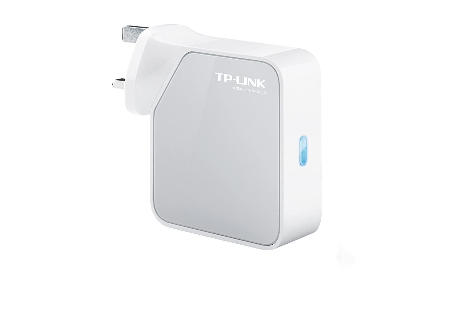 TP-Link 150 Mbps Wi-Fi Travel Router (Support Router Mode/Hotspot  Mode/Range Extender Mode/Client Mode/Access Point Mode, Built-In Power  Adapter, 1
