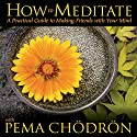 How to Meditate with Pema Chodron Rede von Pema Chodron Gesprochen von: Pema Chodron