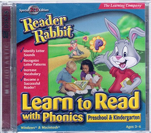 Reader Rabbit Learn to Read with Phonics Preschool & Kindergarten by The Learning Channel